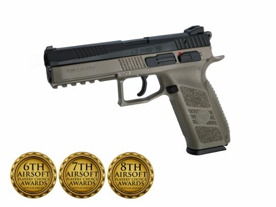 CZ P-09 incl. case. Flat Dark Earth
