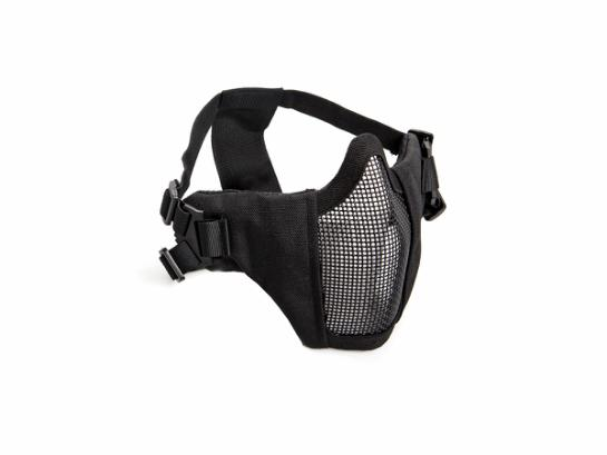 ASG Metal mesh mask with cheek pad, Black
