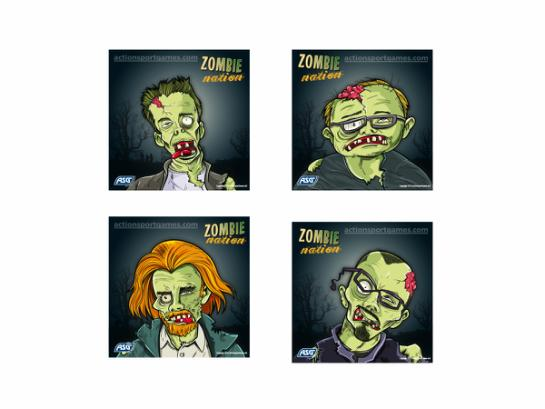 Shooting targets, Zombie, 14cm, 100 pcs.
