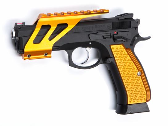 Grip shells, Orange alu, for  CZ SP-01 Shadow