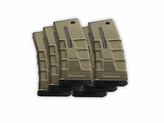 Magazine, AEG, T Tactical, 300rd, TAN, 6pcs/Box