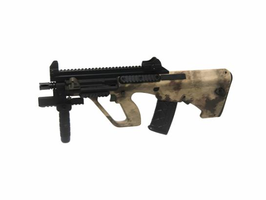 STEYR AUG A3 XS COMMANDO, Desert Camo, Low Power