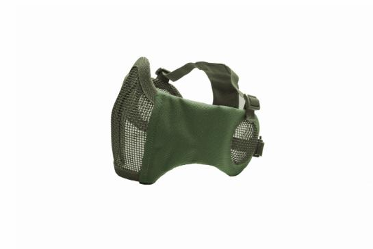 ASG Metal mesh mask with cheek pads and ear protection, OD Green